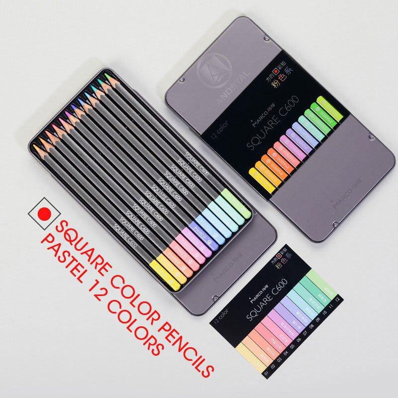 Marco 12/24 NEW Soft Trendy Pastel Colors Pencils Andstal Non-toxic Color Pencil lapis de cor Colore