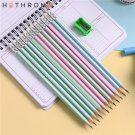 Hethrone 12pcs simple wooden pencils for school Student writing drawing pencil set crayons sketch gr