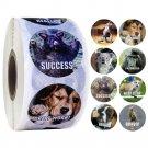 500pcs/roll cute cartoon animals stickers journal scrapbooking teacher encouragement reward sticker