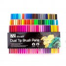 Fineliner Watercolor Brush Markers Dual Tip Drawing for Manga 12 24 36 48 60 72 100 120 Colors Water
