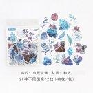 40 pcs Cute Cartoon Stickers Autumn Flower Plant Stickers for Planner DIY Scrapbooking Journal Stati