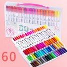 12/18/24/36/48/72/100PCS Colors FineLiner Drawing Painting Watercolor Art Marker Pens Dual Tip Brush