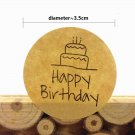 120pcs/100pcs/80pcs/lot For HAPPY BIRTHDAY Gift For You And Cake Multiple Styles Series Adhesive Sea
