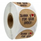 500pcs Pink Label Stickers Circle Paper Thank You Stickers Seal labels For Your Order Round Handmade