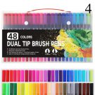 FineLiner Dual Tip Brush Art Markers Pen 12/48/72/100/120 Colors Watercolor Pens For Drawing Paintin