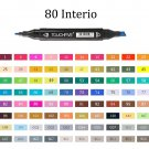 TOUCHFIVE 80 Color Markers Manga Drawing Markers Pen Alcohol Based Sketch Felt-Tip Oily Twin Brush P