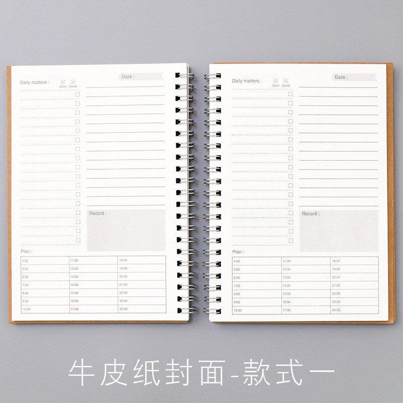 2020 2021 Notebooks Agendas Planner Diary Weekly Spiral Organizer Libretas A5 Note Books Monthly Kra