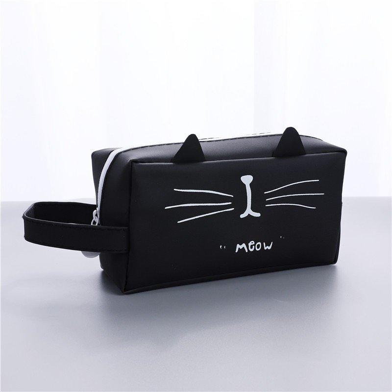 Creative Kawaii Cat School Pencil Cases Bags Cute Gel Pen Large Capacity Box Pouch Office School Sta