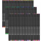 Fineliner Pen Set 12 24 36 48 60 100 Colors 0.4mm Micron Liner for Metallic Marker Draw Pen Color Sk