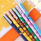 10pcs 6pcs Colorful Flower Gel Pen Office Stationary Kawaii School Supplies Canetas Cute Pen Lapices