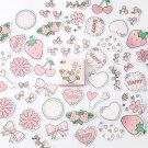 Mr.paper 45pcs/box 24 patterns Cute Children Stickers Scrapbooking Kawaii Cartoon Animals Strawberry
