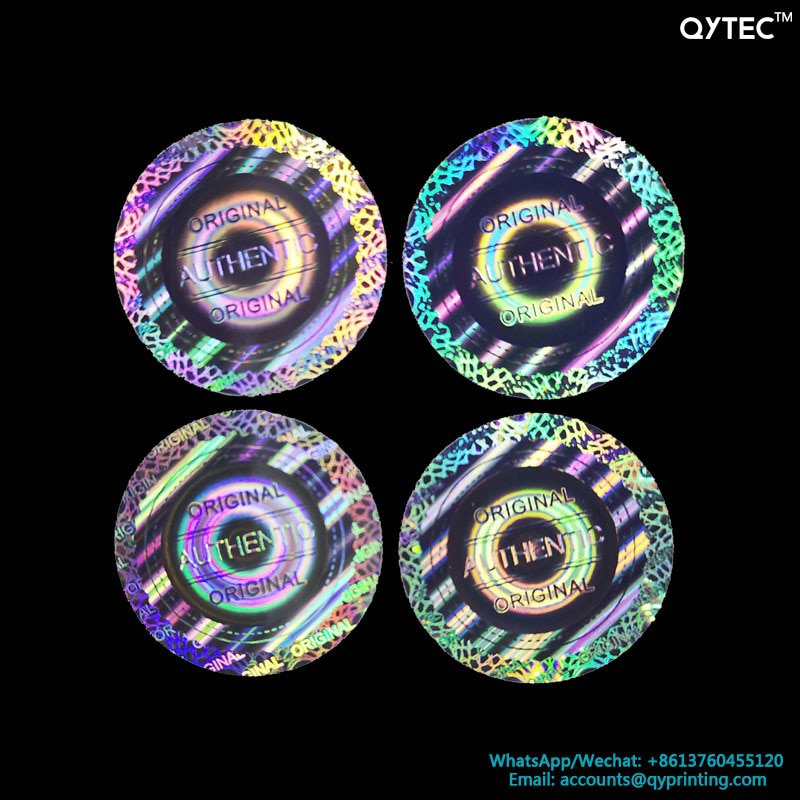 100pcs 20x20mm Round 2D 3D Tamper Evident VOID Open Warranty VOID Security Counterfeit Original Seal