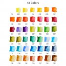 Superior 18/25/33/42Color Solid Watercolor Set Collapsible Water Color Paint Water Brush Creative Wa