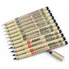 1 Piece Pigment Liner Pigma Pen Micron Marker Pen 0.05 0.1 0.2 0.3 0.4 0.5 0.8 Brush Different Tip B