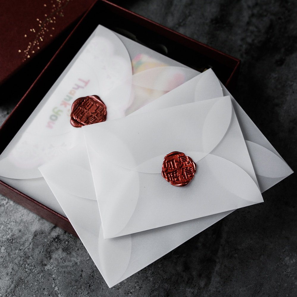 40pcs/lot Semi-transparent Sulfuric Acid Paper Envelopes For DIY Postcard /Card Storage, Wedding Inv