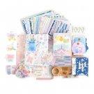 JIANWU Literary album series Tape sticker material paper set Simple   Decoration basics journal ins