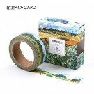 1 pcs Washi Tapes DIY Van Gogh Painting paper Masking tape Decorative Adhesive Tapes Scrapbooking St