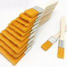 12pcs/set Home Tool Wall Decor Reusable Barbecue Nylon Gouache With Wood Handles Oil Painting Gift F