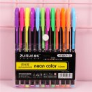 12/16/24/36/48 Colors Gel Pens Set Pastel Neon Metallic Glitter pen Highlighter Flash pen for Art Ma
