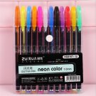 12/16/24/36/48 Colors Gel Pens Set Pastel Neon Metallic Glitter pen Highlighter Flash pen for Art Ma