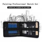 Professional Art Set 32 PCS Drawing Sketching Set With Sketch Graphite Charcoal Pencils Bag Eraser A