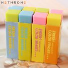 Hethrone 5Pcs Kawaii Soft Colored Student Rubber Erasers Durable Flexible Pencil Eraser Rubber For K