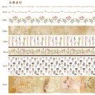 10pcs/lot Ocean Stars Wisteria Floral Cute Paper Masking Washi Tape Set Japanese Stationery Kawaii S