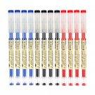 12 Pcs/Set 0.35mm Gel Pen Black Blue Ink Pens School Office Student Exam Writing Dedicated Stationer