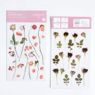 Mr.Paper 16 Designs Natural Story Transfer Printing Stickers Transparent PVC Material Flowers Leaves