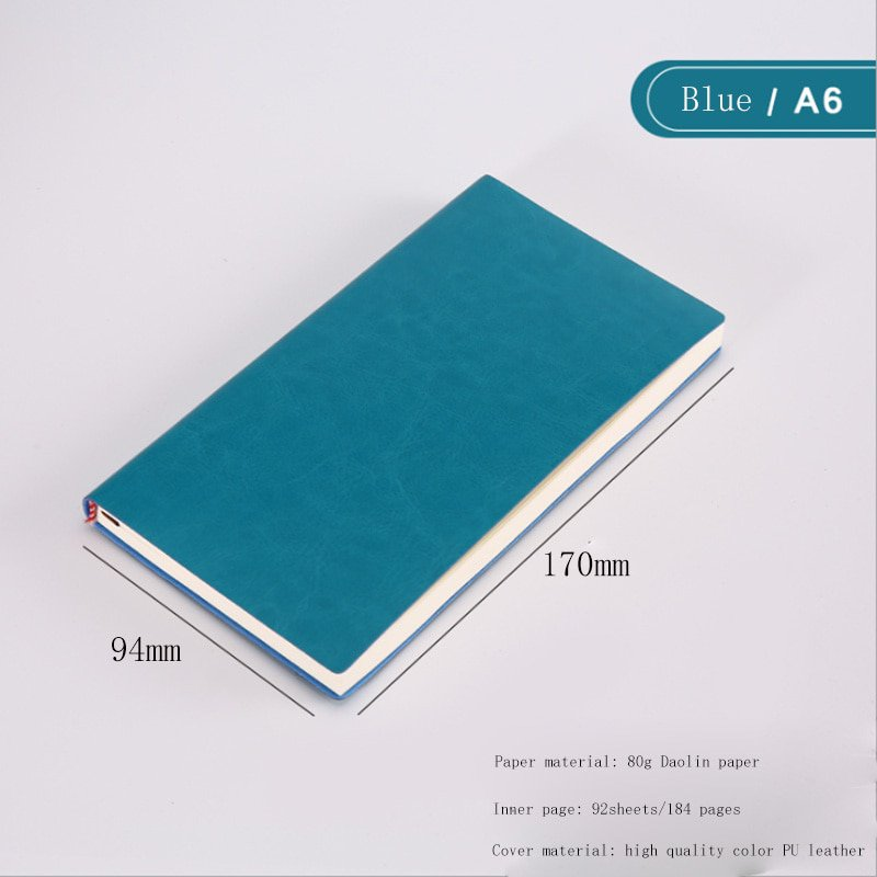 Soft Business Leather Diary Notebook A6 A5 B5 Pu Travelers Journal Thicken School Office Meeting Rec