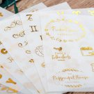 6pcs/pack Gold Stamping Stationery Stickers DIY Album Diary Planner Scrapbook Stickers Sticker Schoo