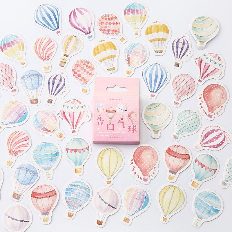 Mr.paper 45pcs/box 24 Designs Colorful Ins Style Scrapbooking Bullet Journal Stickers Kawaii Girlish