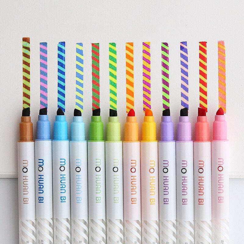 12pcs Magic color drawing pen set Discolored highlighter marker spot Liner pens Scrapbooking art sup