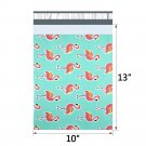 10pcs 25.5x33cm 10x13 inch pattern printed Poly Mailers Self Seal Plastic Envelope Bags - Flamingo