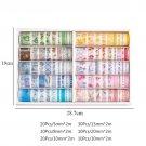 100 Pcs/Set Decorative Washi Tape Cute Flower Masking Tape Paper Adhesive Tape DIY Sticker Scrapbook