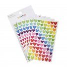 6 pcs/pack Colorful Stickers For Journaling Lovely Stickers Adhesive Star, heart, round shape Bullet