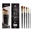 5pcs/set Nylon Hair Oil Paint Brush Set Round Filbert Angel Flat Brush Acrylic DIY Watercolor Pen fo