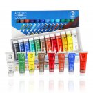 Water-resistant 24 Colors 15ML Tube Acrylic Paint set color Nail glass Art Painting paint for fabric