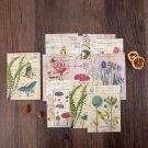 Mr.paper 50pcs/lot Vintage Plants Medieval Draft paper Card Journaling Bullet DIY Scrapbooking Mater