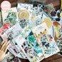 Mr.paper 8 Designs 60Pcs/lot Vintage Retro Forest Plant Style Deco Stickers Scrapbooking Bullet Jour