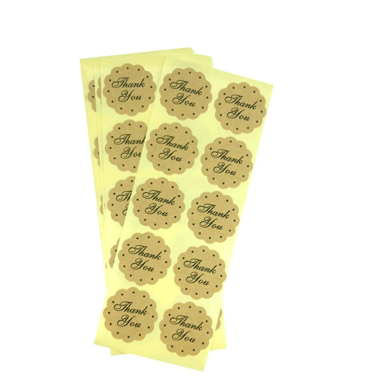 100pcs/lot Cake Box Sealing Label Various Shapes Handmade Diary Stickers Office Supplies For Gifts G