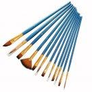 12 PCS/lot Wooden Handle Nylon Hair Paint Brushes Professional Oil Watercolor Paintbrush Set Paintin