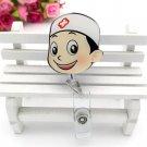 1pc Cute Cartoon Retractable Badge Reel Students Nurse Exhibition Pull Key ID Name Card Badge Holder
