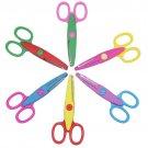 6PCS DIY Laciness Zig Zag scissor album school pinking shear creative Scrapbook photo craft cut hand