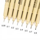 G-0950 Water Based Markers Drawing Liner Pen Multiple Size Fineliner Pens For Anime Comic Sketching