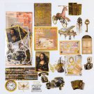 Mr.paper 8 Designs 60Pcs/lot Gold Stamping Middle Ages Revival of Letters Stickers Scrapbooking Bull