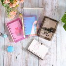 Yiwi A5 A6 A7 PVC Rainbow laser Transparent Notebook diary Cover Glitter Loose leaf Note Book Planne