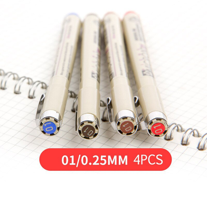 Marker Set Pigma Color Micron Pen Brush Pen Drawing Painting Brush Pen 005 01 02 03 04 05 08 1.0 2.0