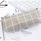 Kawaii Pencil Bag Simple Striped Canvas Pencil Bag, Creative Male and Female Student Pencil Case, Gr