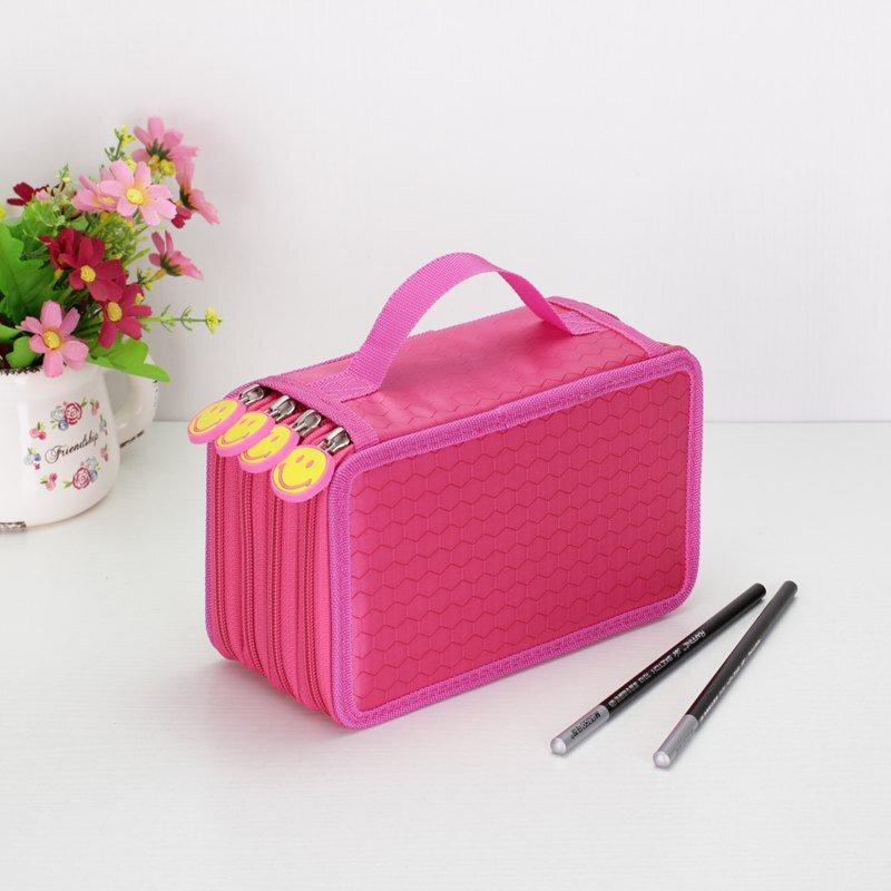 Kawaii School Pencil Case Big 36/48/72 Holes Penal for Girls Boys Pen Box Large Storage Cartridge Ba